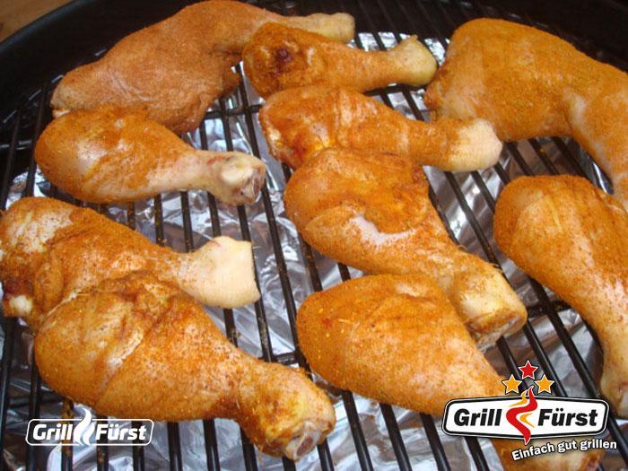 Chicken Drums auf Grillrost
