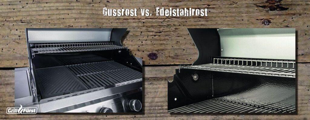 Gussrost und Edelstahlrost im Gasgrill Vergleich