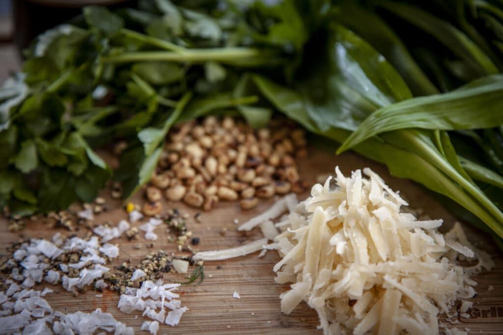 Bärlauch Pesto Zutaten