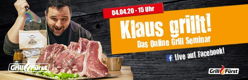 Das Online Grillseminar mit Klaus grillt