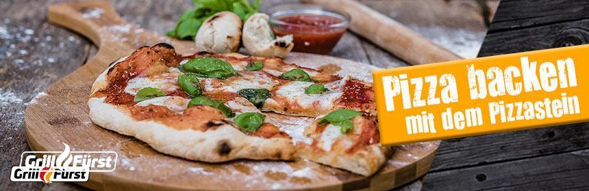 Der Pizzastein für den Grill oder Backofen
