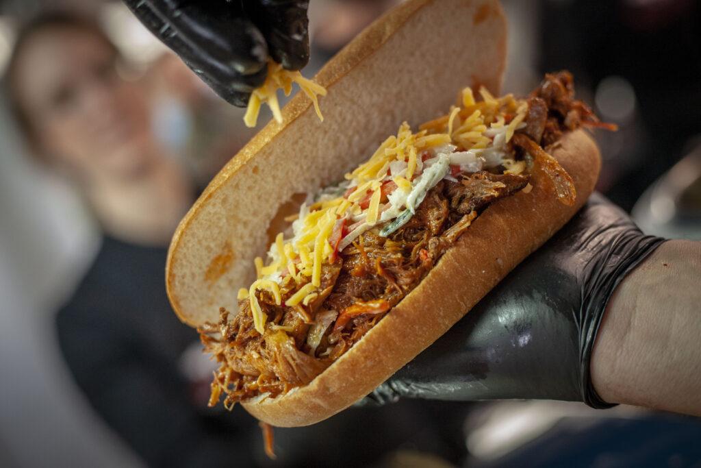 Auch auf dem Pulled Pork Burger schmeckt der Coleslaw hervorragend
