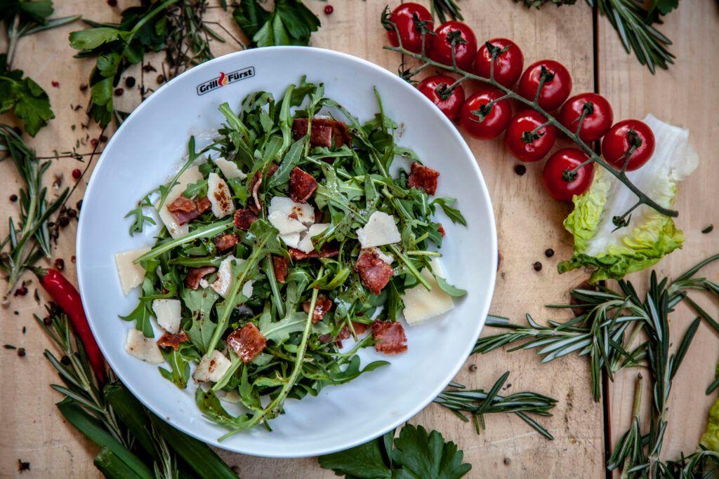 Rucola Salat mit Parmesan