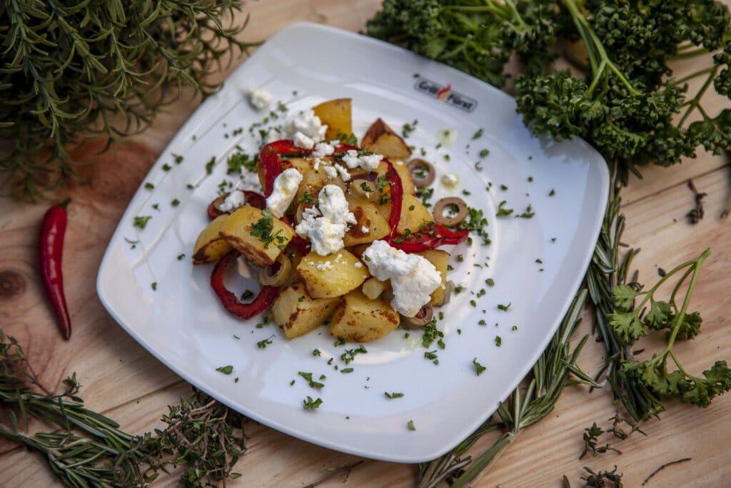 Salat aus gerösteten Kartoffeln - tolles Rezept