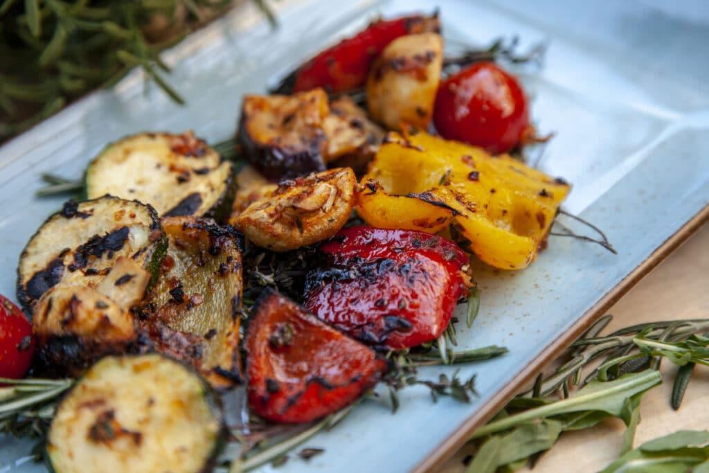 Zucchini Antipasti vom Grill. Zucchini grillen