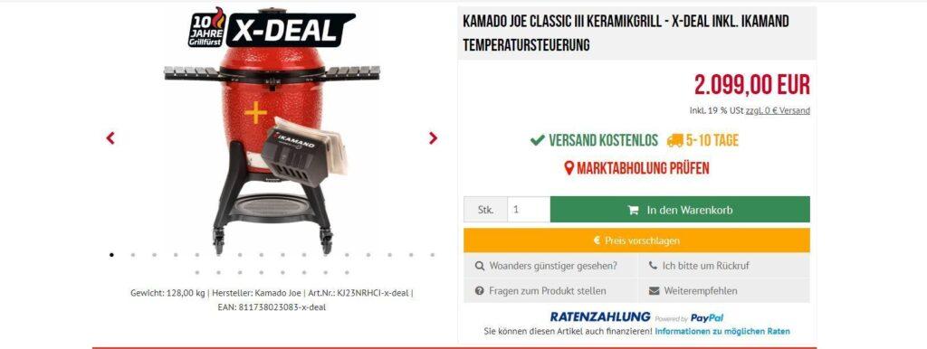 Kamado Joe Classic III inkl. iKamand, der Kamado Joe Temperatursteuerung bei Grillfürst im Online Shop