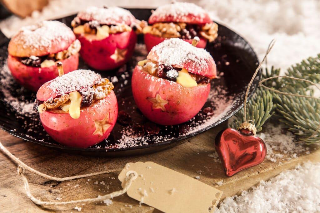 Bratapfel mit Zimt und Honig Wintergrillen
