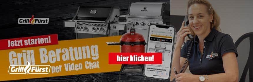 Grill kaufen per Live Beratung über Video Chat bei Grillfürst