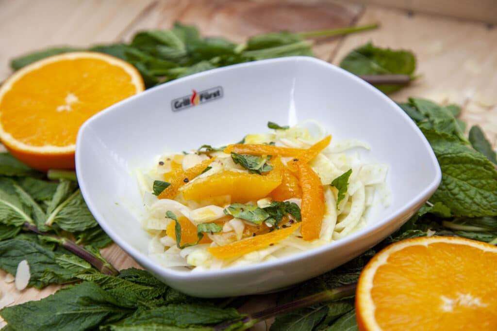Leckerer Orangen Fenchel Salat zum Grillen