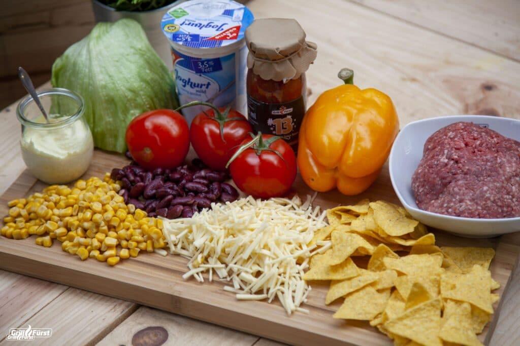 Die Zutaten für den Tacosalat