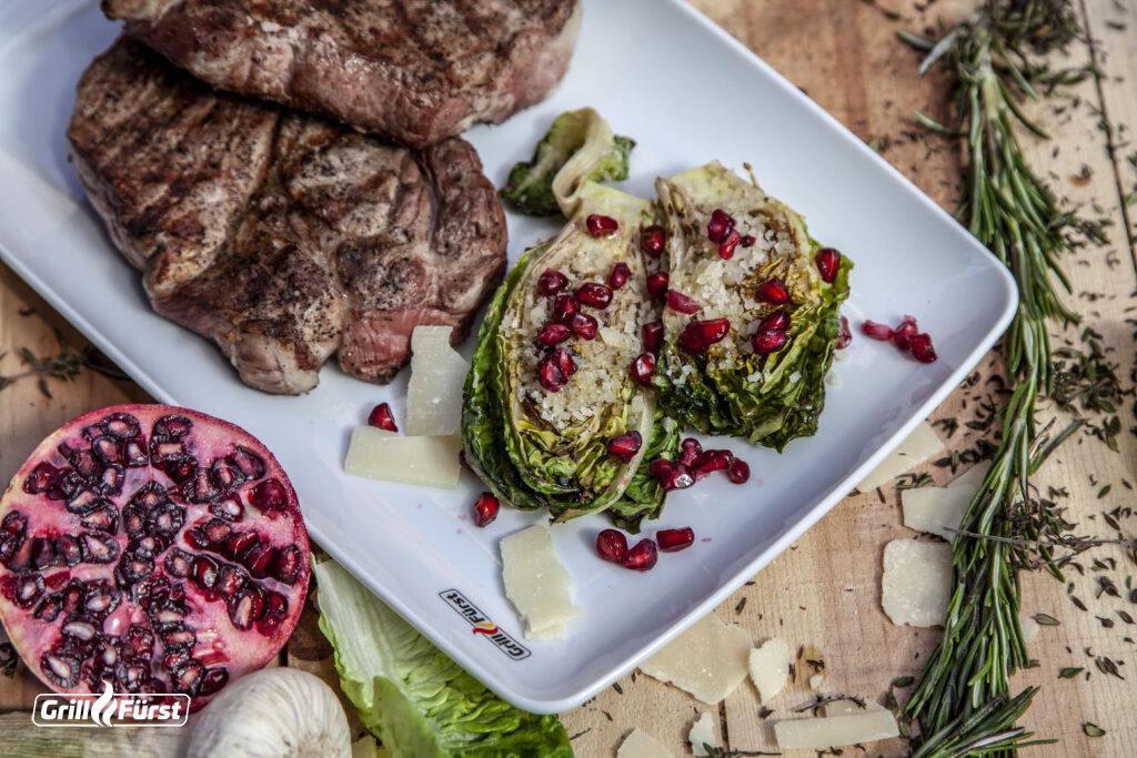 Gegrillter Salat perfekt zum Steak