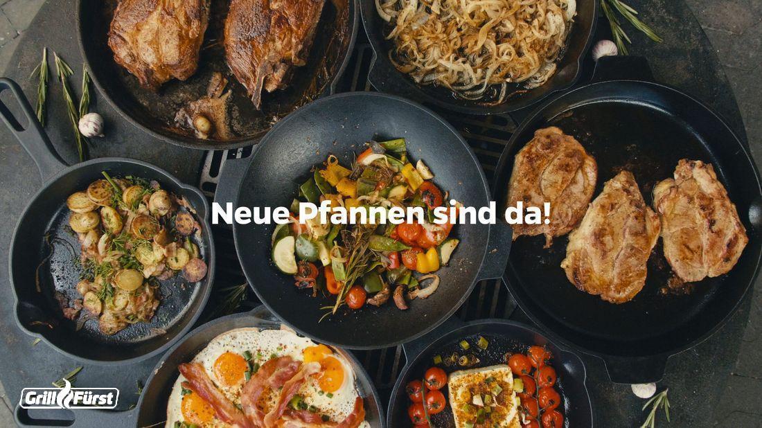 Die Grillfürst Gusseisenpfannen – eine neue Produktpalette der Grillfürst Eigenmarke