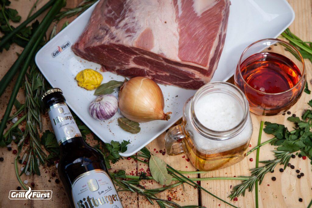 Damit das Steal in Bier Marinade perfekt wird, benötigt man nicht viele Zutaten.
