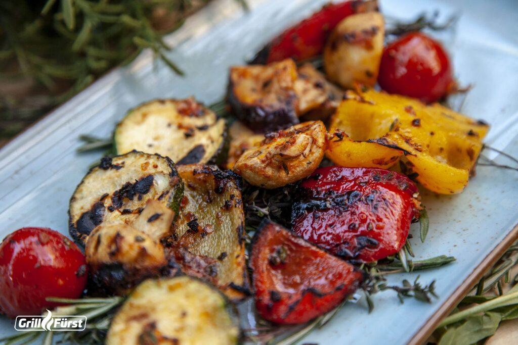 Viele Gemüsesorten sind hervorragend  zum Grillen geeignet.