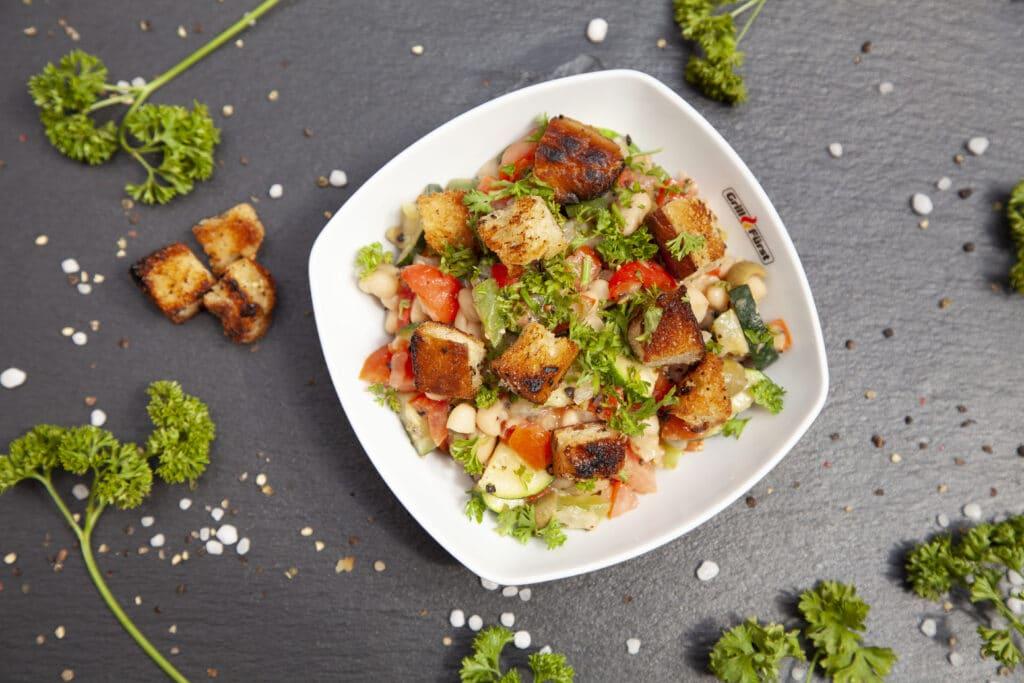 gegrilltes Gemüse als Salat