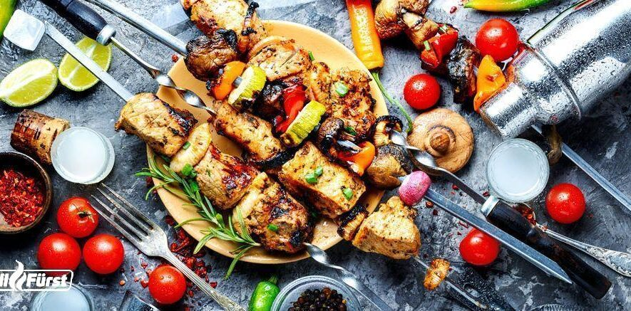 Rezeptidee zum Outdoor Grillen: Grillspieße