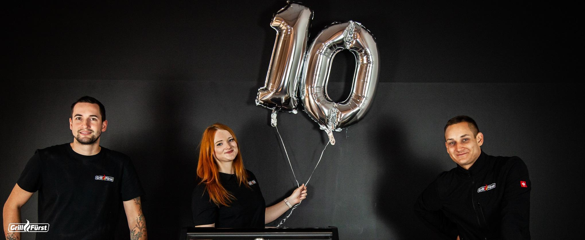 Zehn Jahre Feuer und Flamme -Grillfürst feiert 10. Geburtstag
