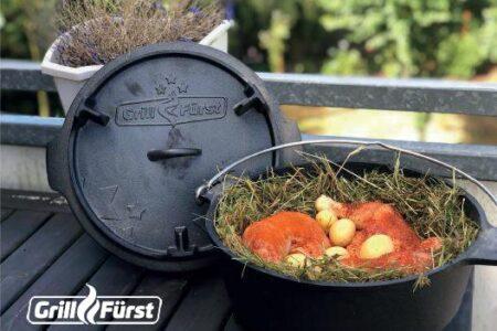 Heu Huhn aus dem Dutch Oven