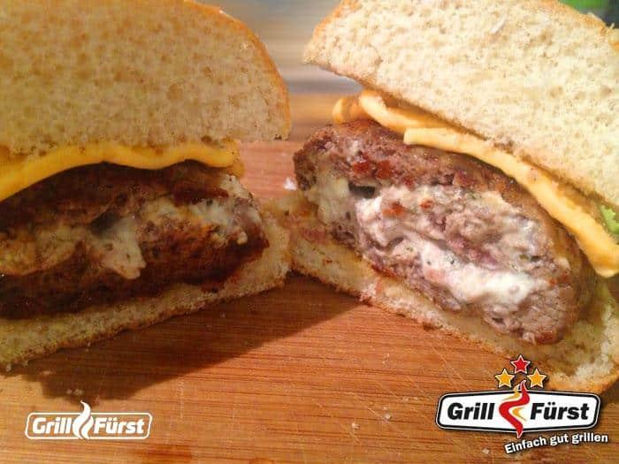 Anschnitt gefüllte Burger