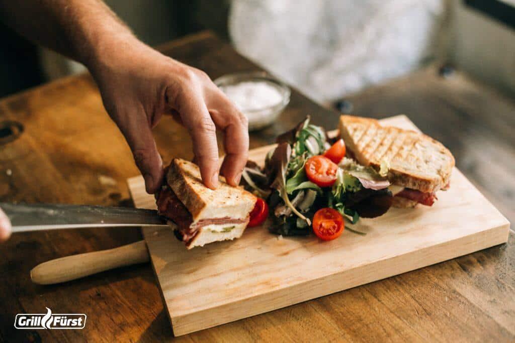 Selbst gemachte Sandwiches frisch zubereitet
