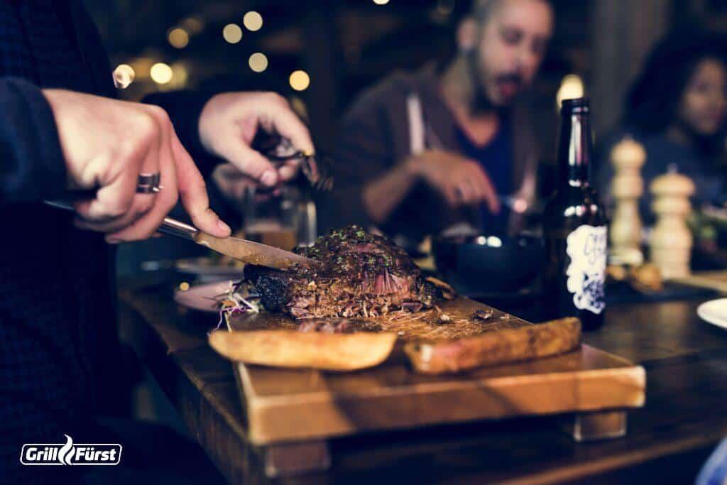 Bestes Rindfleisch serviert im Steakhaus