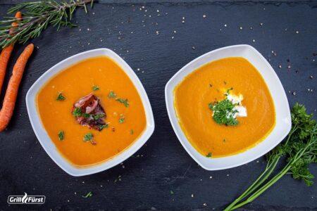 Kürbissuppe in verschiedenen Varianten