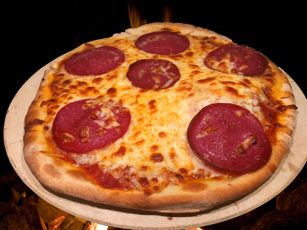 Pizza vom Grill
