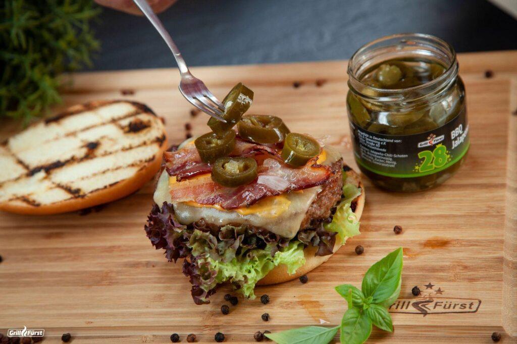 Grillfürst Jalapenos auf Burger