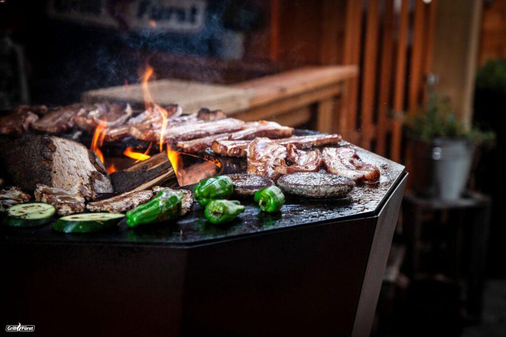 Wintergrillen Feuerplatte