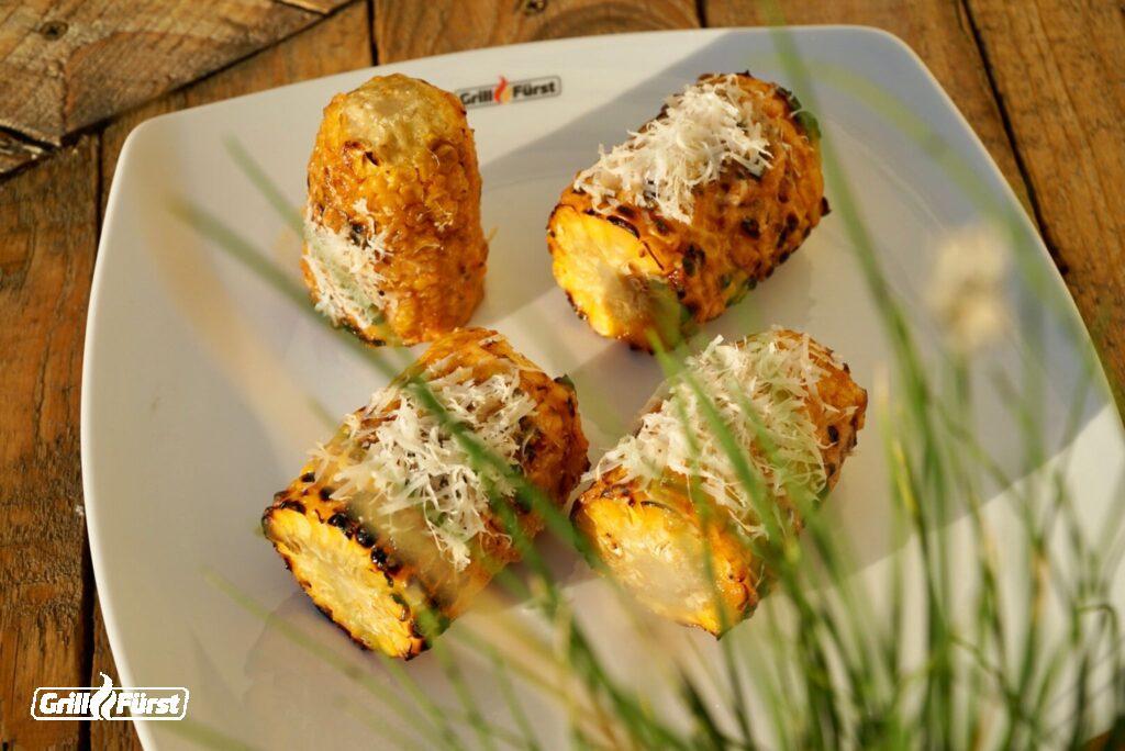Maiskolben mit Käse, Cream Corn