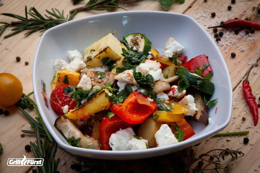 Gegrilltes Gemüse mit Feta