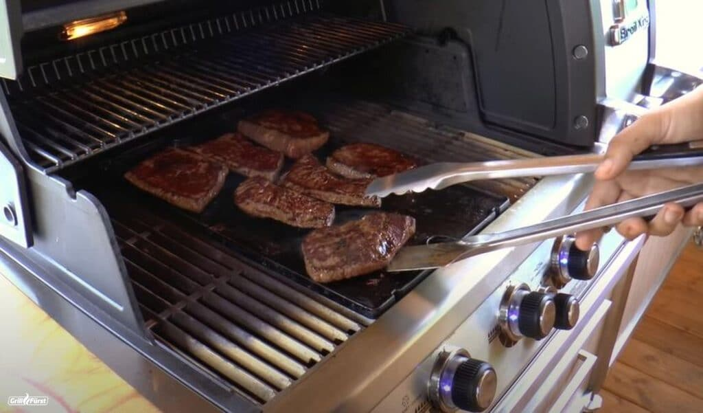 Tafelspitz Steaks von der Grillplatte
