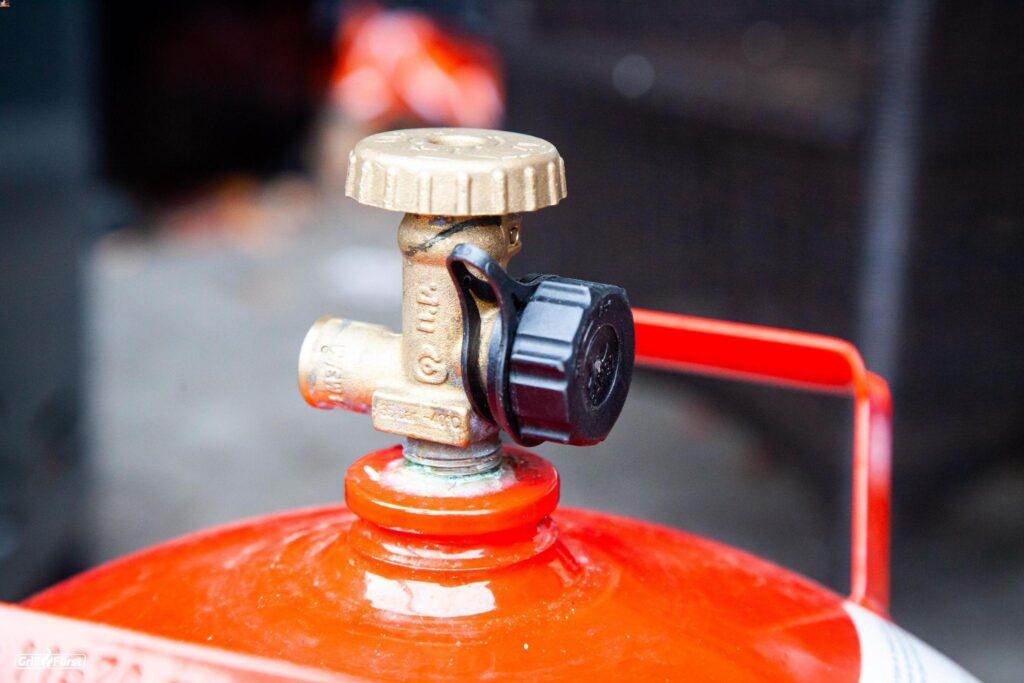 Gasflaschenventil mit Schutzkappe