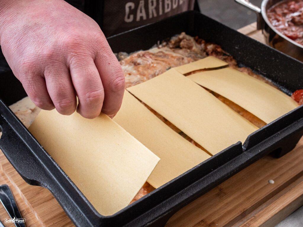Lasagneplatten für Lasagne schichten