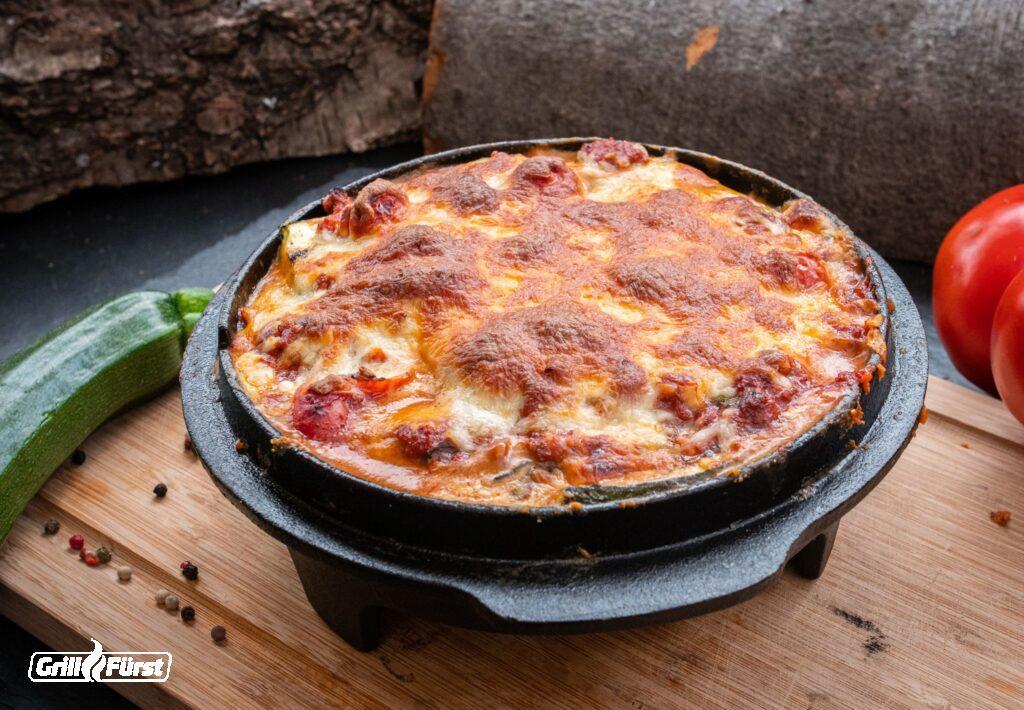 Zucchini Lasagne in Dutch Oven Deckel