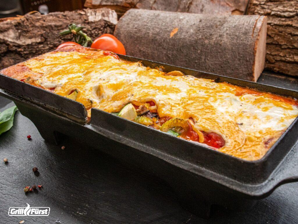 vegetarische Lasagne in Kasenform