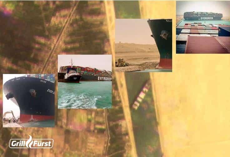 Lieferverzögerungen durch gesperrte Wasserstraße Suez Kanal