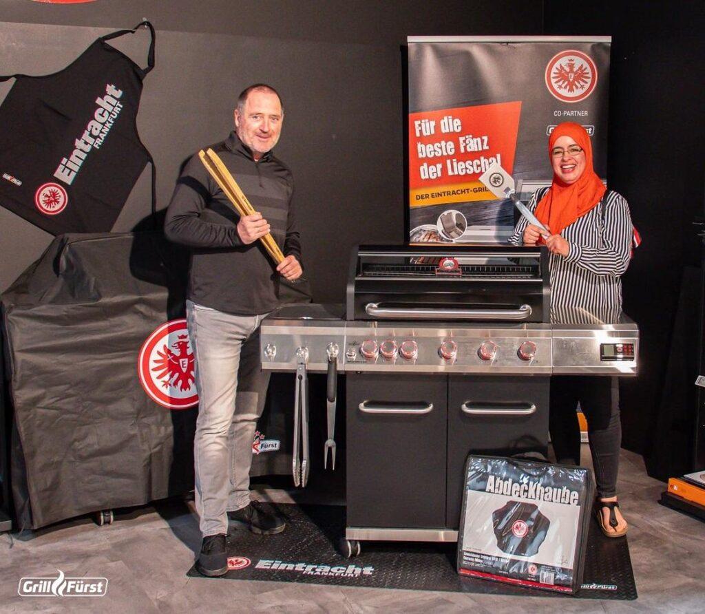 Eintracht Grill und Produkte mit Uwe Bein und Gewinnspiel Gewinner
