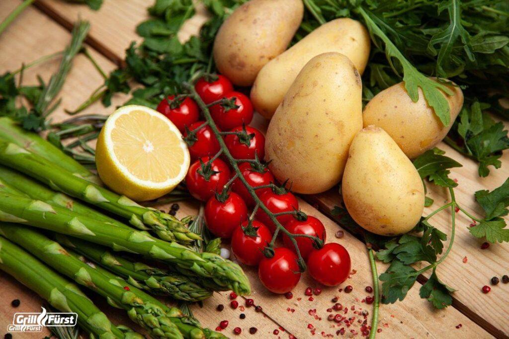 Zutaten für Kartoffelsalat zum Grillen