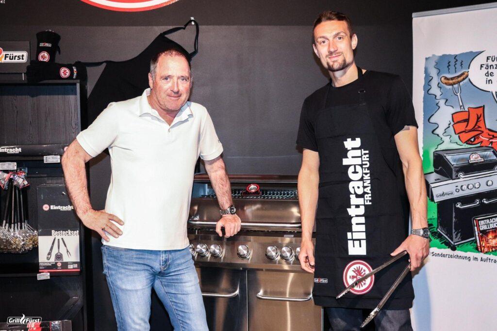 Uwe Bein und Stefan Ilsanker Eintracht-Grill