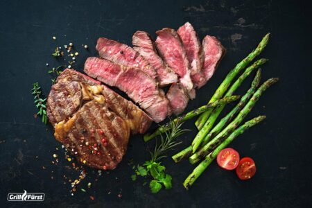 Kerntemperatur Rip Eye Steak - medium gegrillt