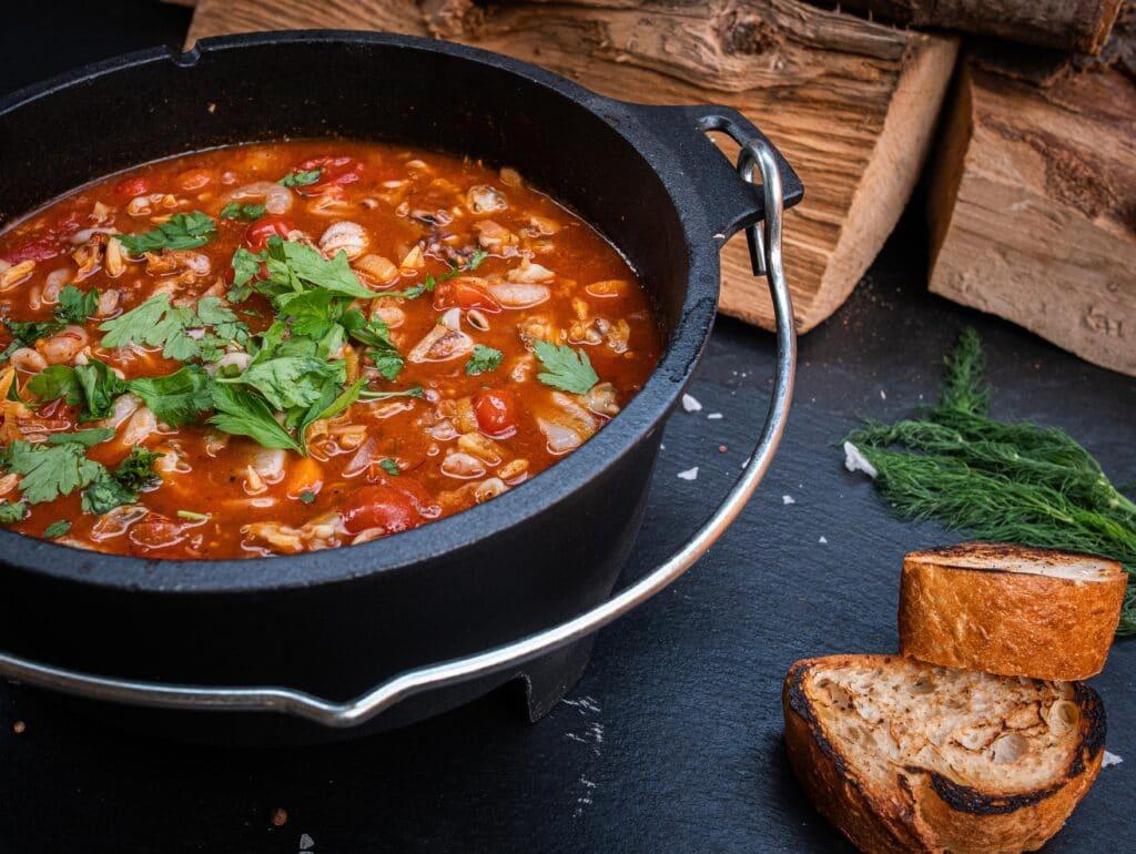 Fischsuppe vom Grill