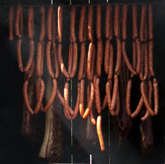 Schinken und anderes Fleisch Räuchern