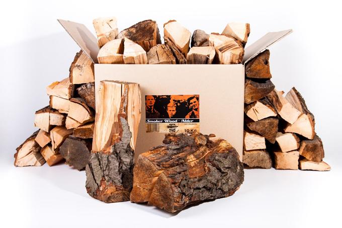 Axtschlag Holzscheite zum Räuchern