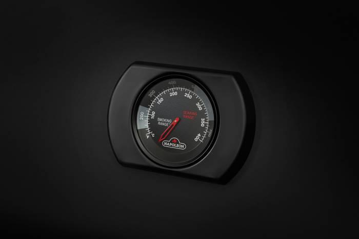 Napoleon Phantom Deckelthermometer mit Carbon Look mattschwarz