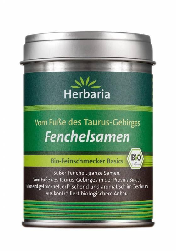 Herbaria BIO Fenchelsamen - vom Fuße des Taurus-Gebirges - Ganze Samen 40g