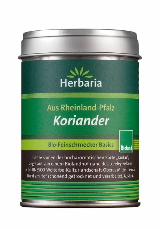 Herbaria BIO Koriander - aus Schwäbisch Hall - Ganze Samen 40g