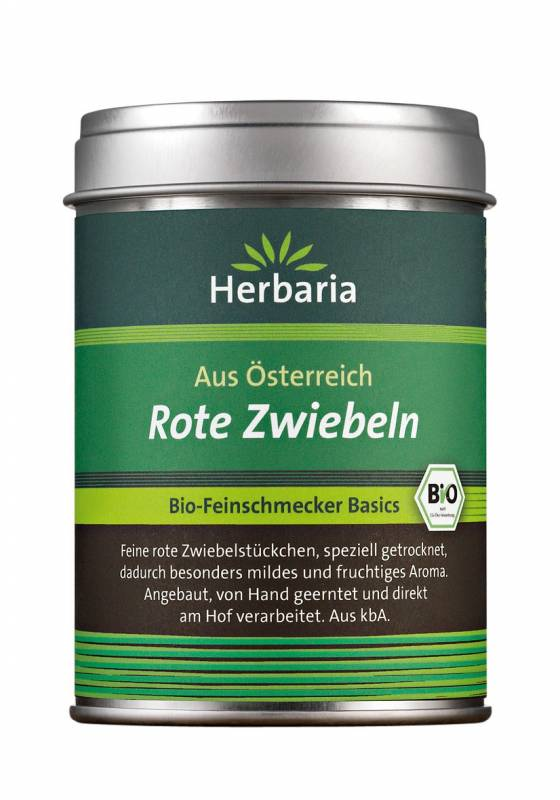 Herbaria BIO Rote Zwiebeln - Dose 50g