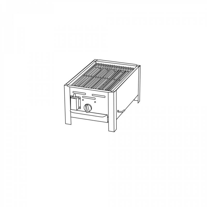 TGO 1-Brenner Gastrobräter / Gasbräter mit verchromten Rost