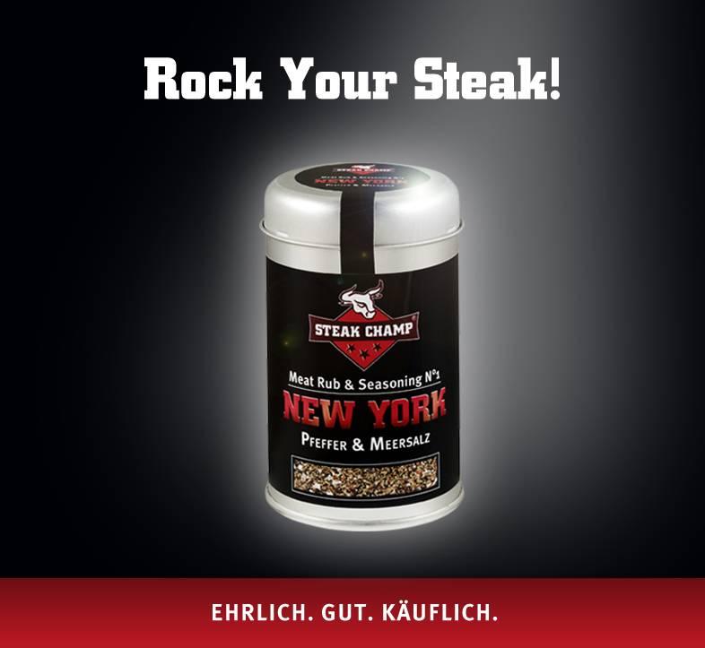 Steak Champ Gewürz-Mischung No.1 New York - Pfeffer & Meersalz